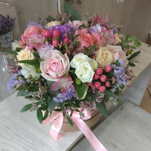 """Шляпная коробка """"путь мечты сбываются!"""": букеты цветов на заказ Flowwow"""