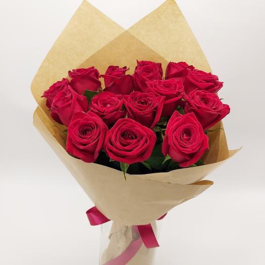 Букет из 15 красных роз 50 см: букеты цветов на заказ Flowwow