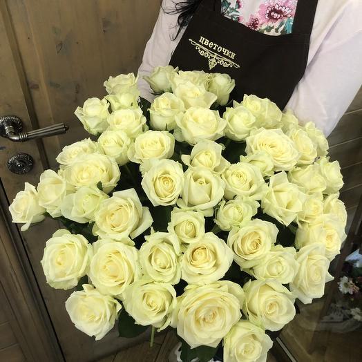 """Большой букет из роз """"белая розочка"""""""