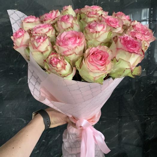 Розовая нежность: букеты цветов на заказ Flowwow