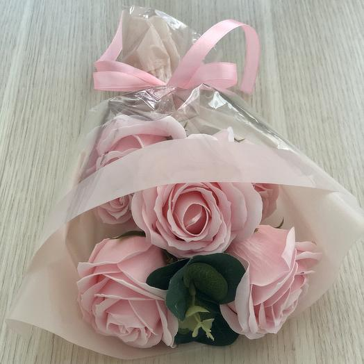 Букет из мыльных роз премиум: букеты цветов на заказ Flowwow