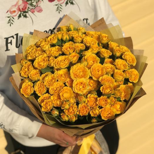 Букет из 25 веточек кустовых роз. N618: букеты цветов на заказ Flowwow