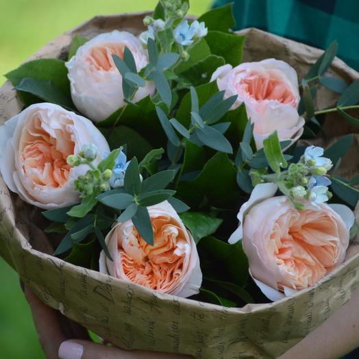 """Букет пионовидных роз """"Созвездие девы"""": букеты цветов на заказ Flowwow"""