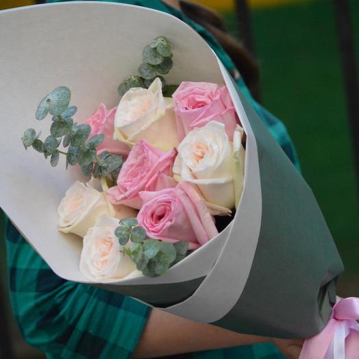 """Букет пионовидных роз """"Скарлетт"""": букеты цветов на заказ Flowwow"""