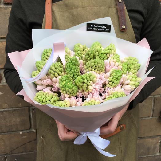 Розовые гиацинты: букеты цветов на заказ Flowwow