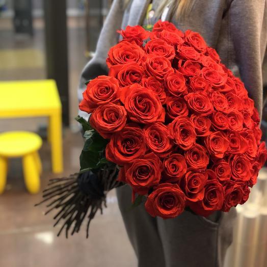 Букет из 51 розы PREMIUM 60 см в букете