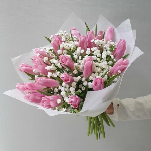 Весенние тюльпаны: букеты цветов на заказ Flowwow