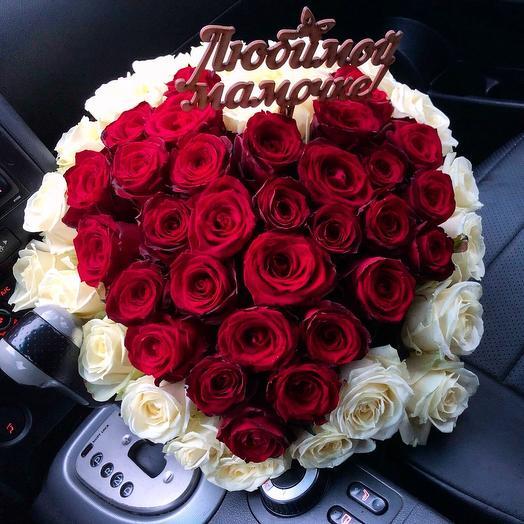 Букет сердцем из роз: букеты цветов на заказ Flowwow