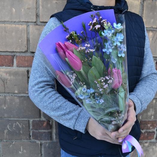 Премиум радужный: букеты цветов на заказ Flowwow