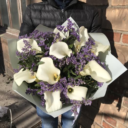 Букет белых калл: букеты цветов на заказ Flowwow