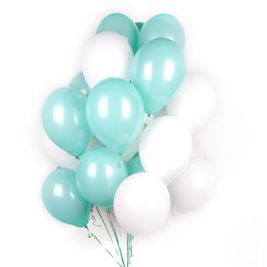 25 гелиевых шаров: букеты цветов на заказ Flowwow