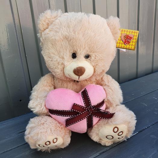 Медведь мягкий с сердцем
