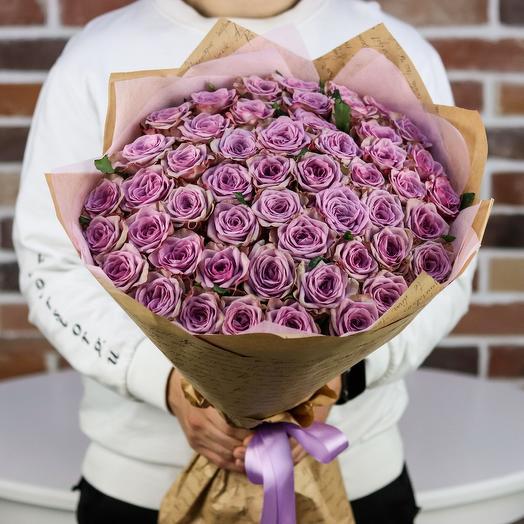 Букет из 51 сиреневой розы. N851