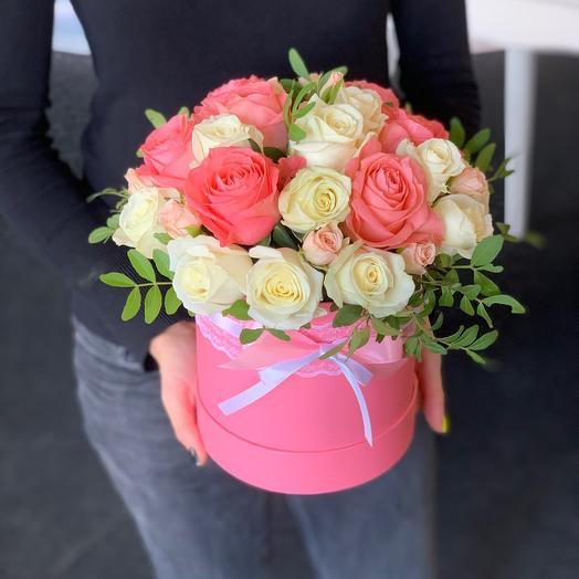 Цветы в коробке Анжелика