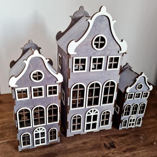 Набор деревянных домиков Амстердам