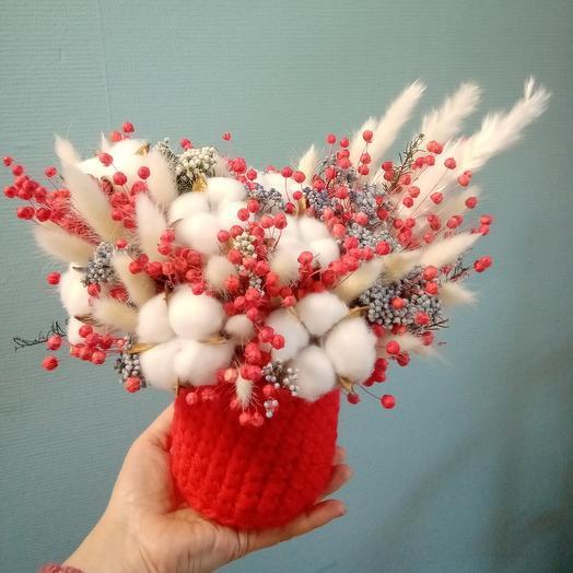 Зимняя композиция из сухоцветов