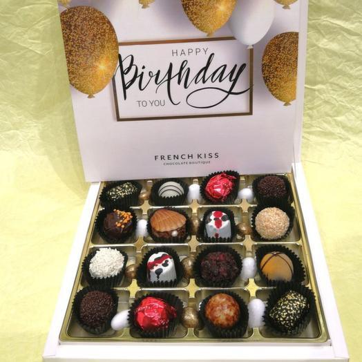 Набор конфет ручной работы FRENCH KISS SPB 10/3 С днем рожденья 2