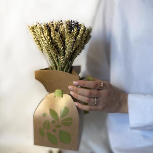 Эко букет из сухоцветов RozaRose Пшеничное Поле