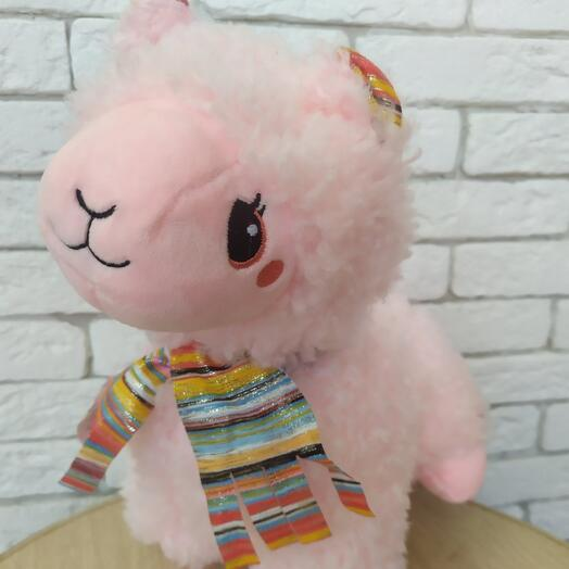 Игрушка розовая лама