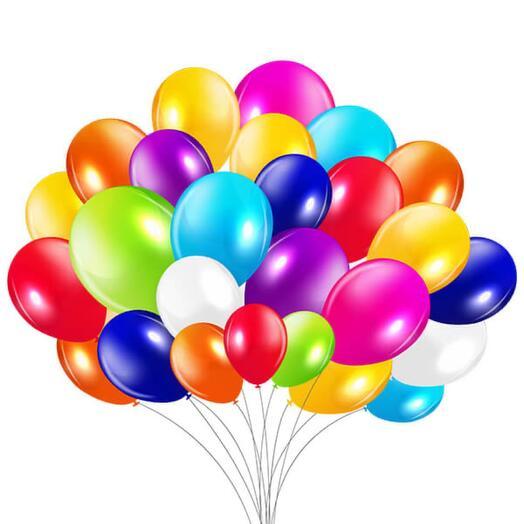 1 воздушный шар цвет микс