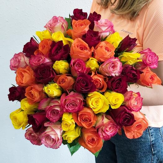 51 Роза 4 цвета
