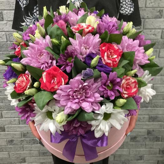 Цветы в коробке 5556