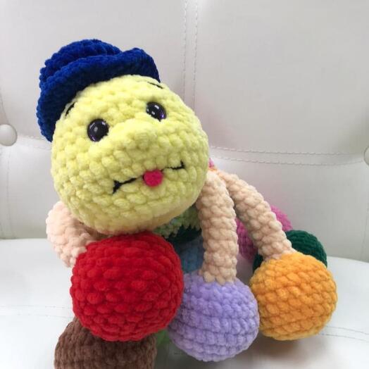 Вязаная игрушка Паук