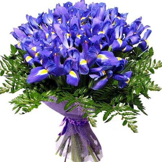 Букет Ирисы: букеты цветов на заказ Flowwow