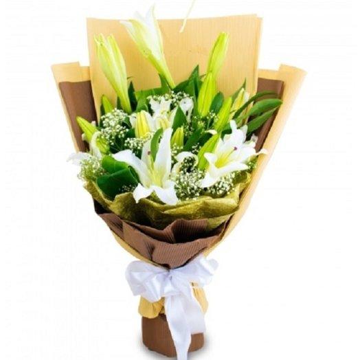 Лилиум: букеты цветов на заказ Flowwow