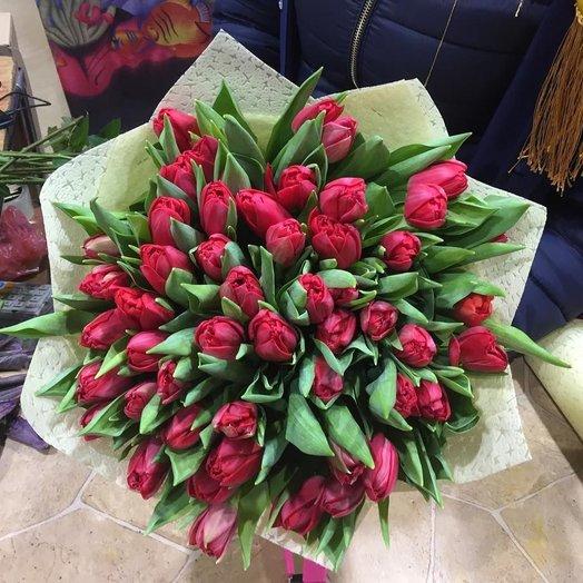 51 красная тюльпан