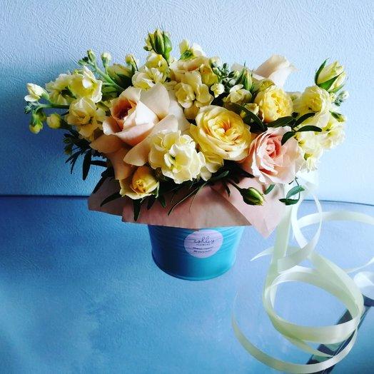 Лимонное ведёрко : букеты цветов на заказ Flowwow