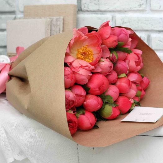 Коралловый сет 25: букеты цветов на заказ Flowwow