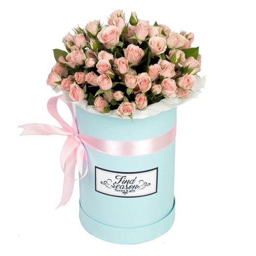 """Шляпная коробка """"Свежая волна"""": букеты цветов на заказ Flowwow"""