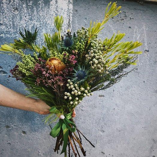 Букет из экзотического разнотравья: букеты цветов на заказ Flowwow