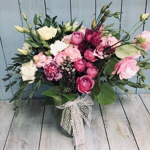 Букет в вазе 1: букеты цветов на заказ Flowwow