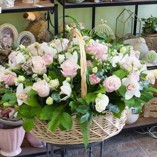 """Корзина цветов """"Стиль и гармония"""""""