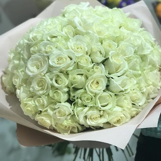 Букет из 101 потрясающей розы