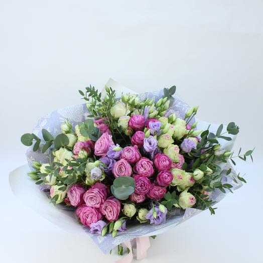 Роскошный букет с пионовидными розами: букеты цветов на заказ Flowwow