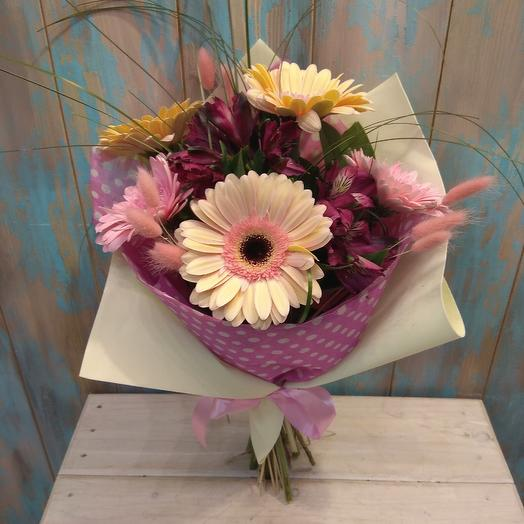 Букет из герберы и альстромерии: букеты цветов на заказ Flowwow