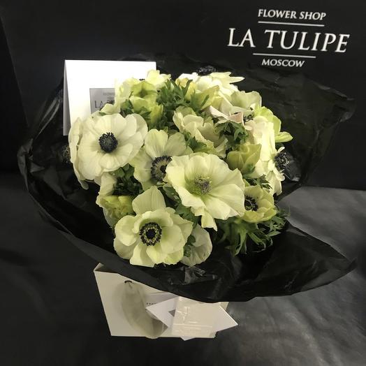 Белые Анемоны / 11 шт: букеты цветов на заказ Flowwow