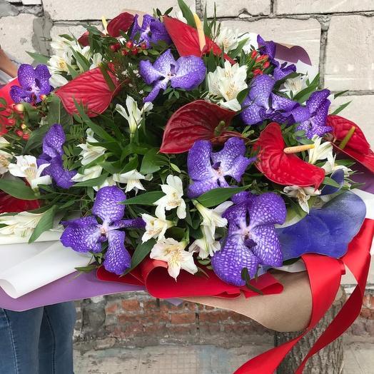 """Авторский букет """"Краски Доминиканы"""": букеты цветов на заказ Flowwow"""