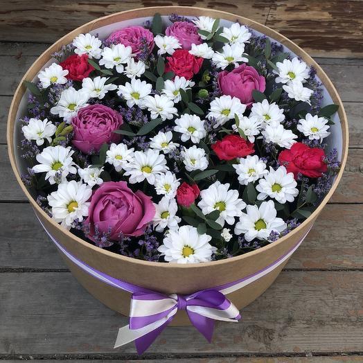 Огромная композиция с пионовидной розой: букеты цветов на заказ Flowwow