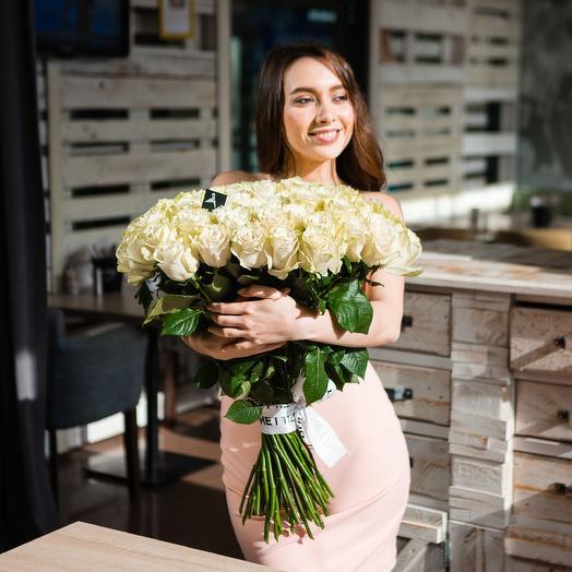 51 РОЗА 60 см ПРЕМИУМ (Эквадор): букеты цветов на заказ Flowwow