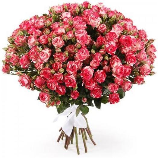 """Букет кустовых роз """"Фаерворкс"""": букеты цветов на заказ Flowwow"""