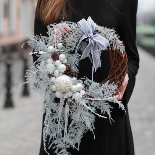 """Венок """"Новогодняя метель"""": букеты цветов на заказ Flowwow"""