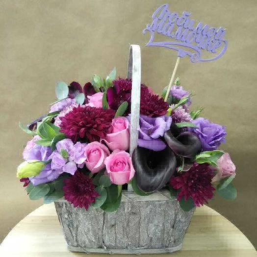 Лесная корзина - любимой мамочке: букеты цветов на заказ Flowwow