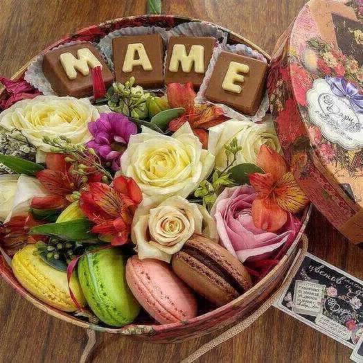 Сладкая коробочка -маме: букеты цветов на заказ Flowwow