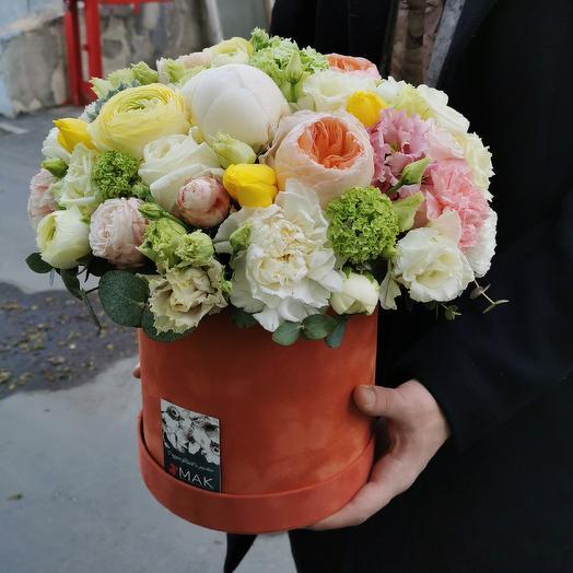 Бархат и эхиверия: букеты цветов на заказ Flowwow