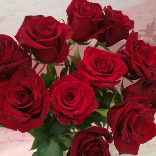 9 роз под ленту