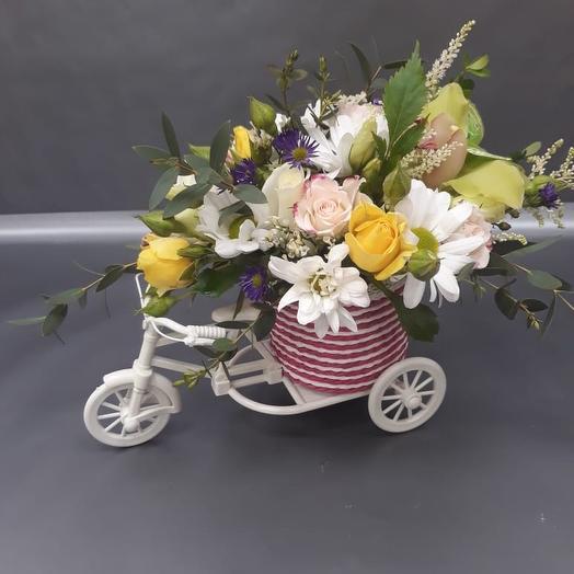 Полевой букет в корзине: букеты цветов на заказ Flowwow
